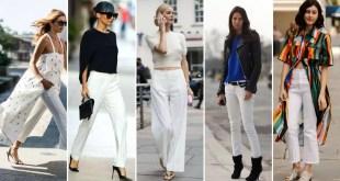 beyaz pantolon nasıl kombinlenir