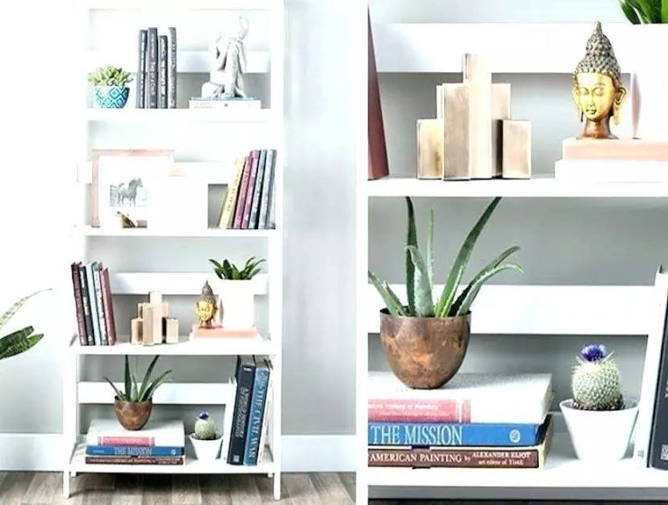 kitaplık dekorasyonu