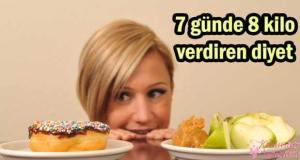 7 Günde 8 Kilo Nasıl Verilir