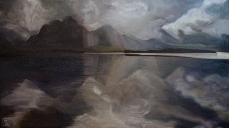 hinchenbrook-passage,australian-landscapes,river-paintings,rivers,reflections,australian-art,kadira-jennings