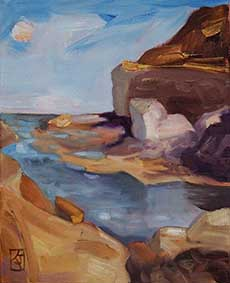 landscapes,seascape,ocean,contemporary art,kadira jennings,australian-landscapes,terrigal,the-skillion,