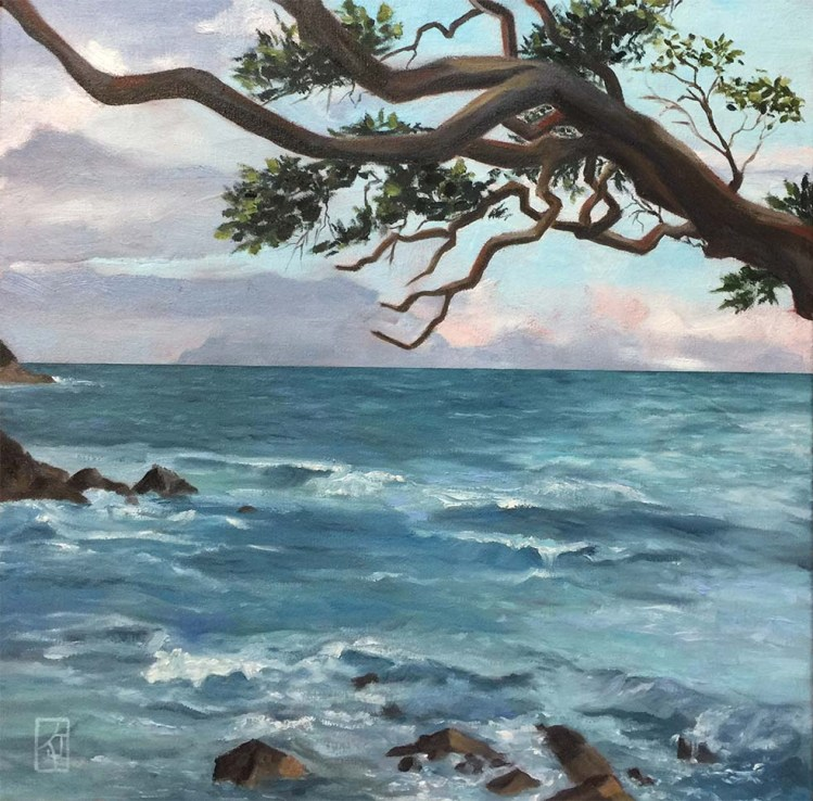 Restless Sea,Oils_paintings,kadira-jennings,Matheson bay
