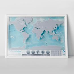 Luckies Scratch Map Oceans Edition