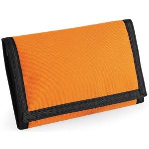 Portemonnee/portefeuille met klittenband sluiting oranje