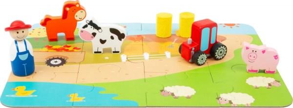 Small Foot speelset Farm in een koffer junior 14-delig
