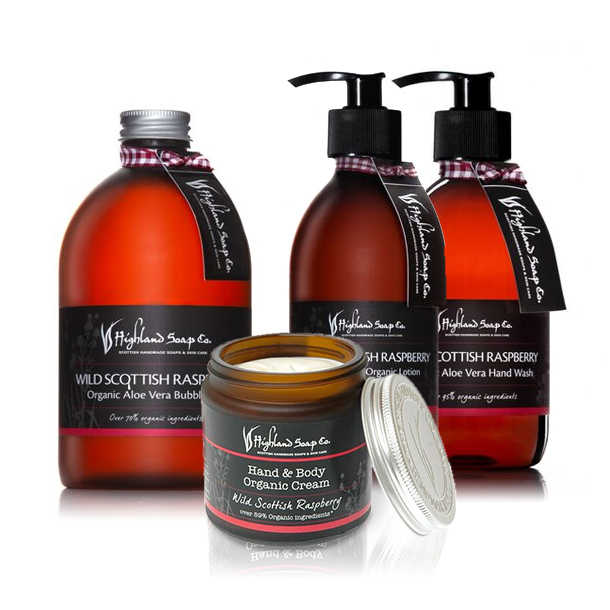 Highland Soap Co. Body Cream Wilde Schotse Framboos 120ml, bio