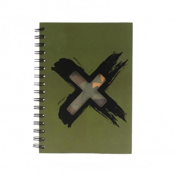 Dresz notitieboek Army Cross A5 80 pagina's groen