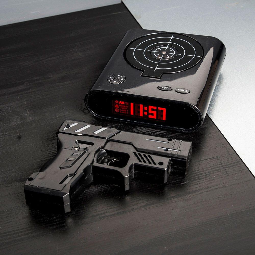Gun Alarmklok - Zwart - Nutcrackers