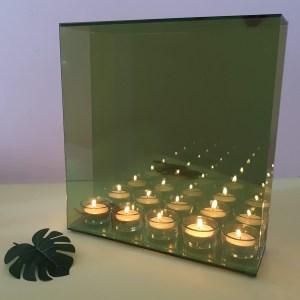 Infinity Waxinelichthouder - 5 Kaarsjes - Invotis