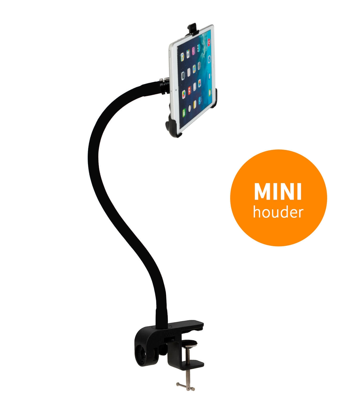 TABLET HOUDER MET KLEM voor MINI iPad en MINI tablets 7-8 inch
