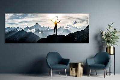 Foto op aluminium 70x70 cm