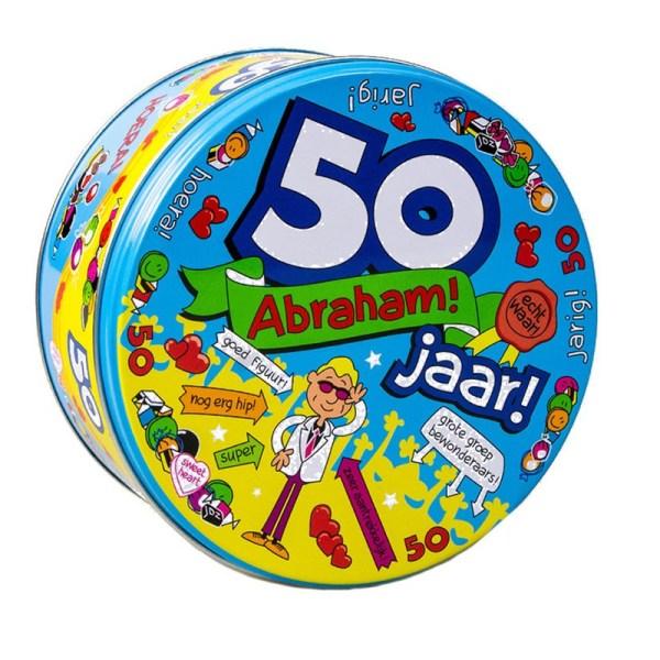 Snoeptrommel/cadeautrommel 50e verjaardag / Abraham 50 jaar