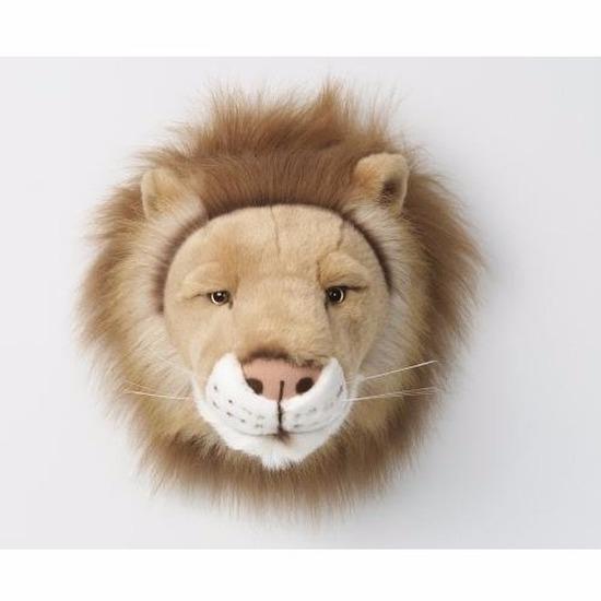 Leeuwenkop voor aan de muur