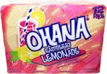 Faygo - Ohana Raspberry Lemonande 355ml 12 Blikjes