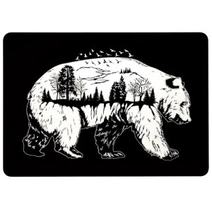 Laptop Case Protective Cover Snap on Case Compatible with Macbook Pro 13.3''/13'' with Touch Bar(2016-2019) Bear with Views2