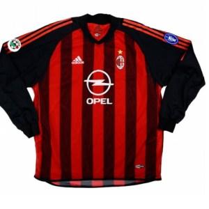 AC Milan Shirt Thuis Gedragen door Seedorf Longsleeved 2002-2003 - Maat One Size - Kleur: Rood | Soccerfanshop