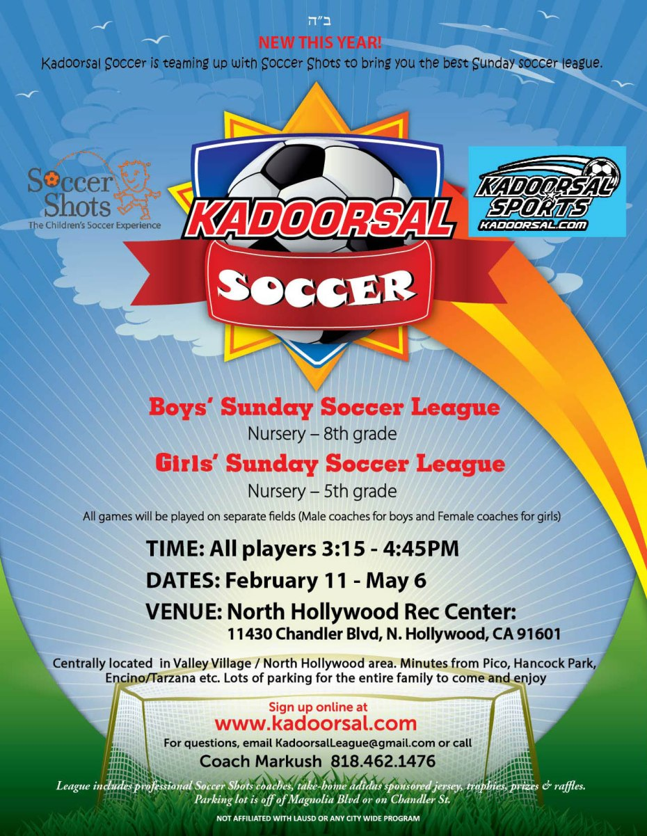 Kadoorsal Soccer Season 2018… Registration is now open
