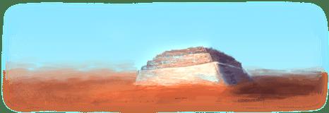 """Bild der fiktiven Wüstenstadt aus """"Die Legende von Kados"""""""