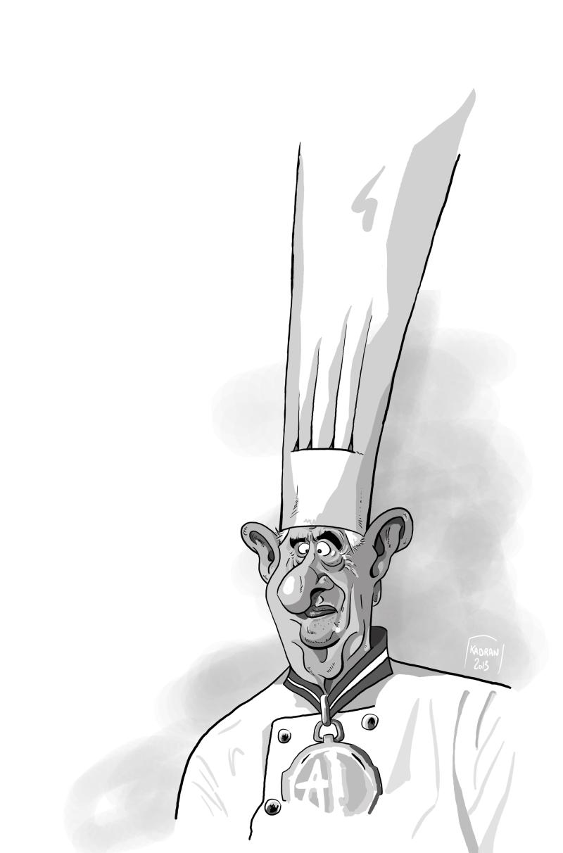 Caricature du Chef Paul Bocuse