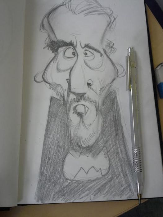 Christopher lee caricature 0