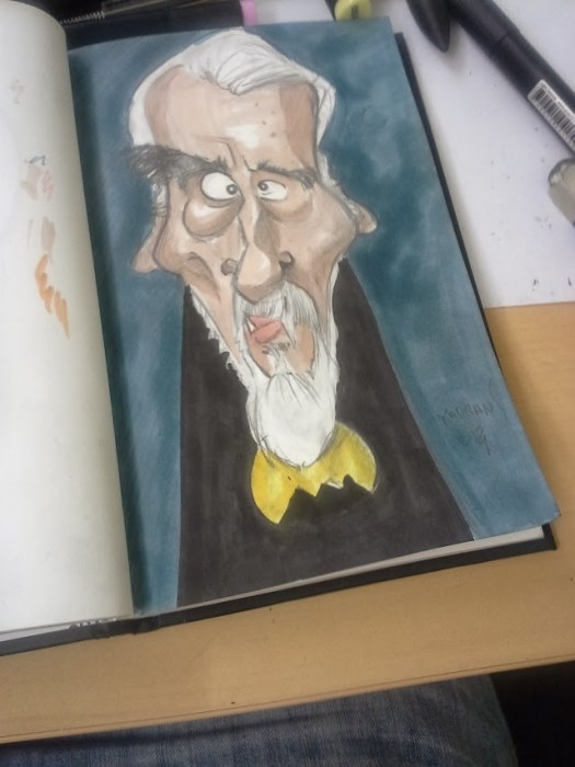 Christopher lee caricature 01