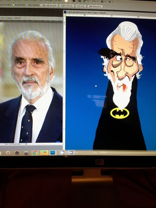 Christopher lee caricature 04