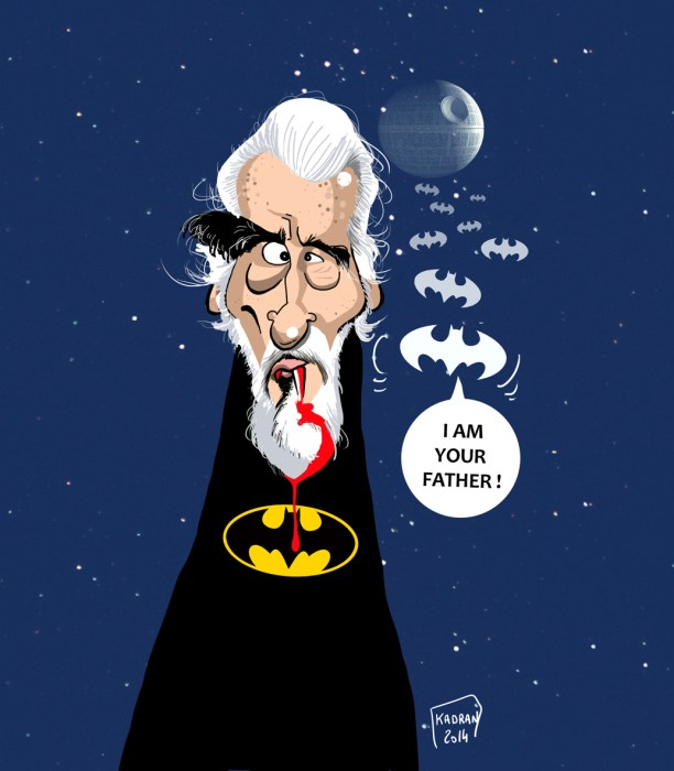 Christopher lee caricature 05