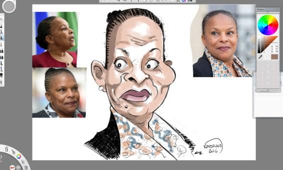Christiane Taubira en caricature