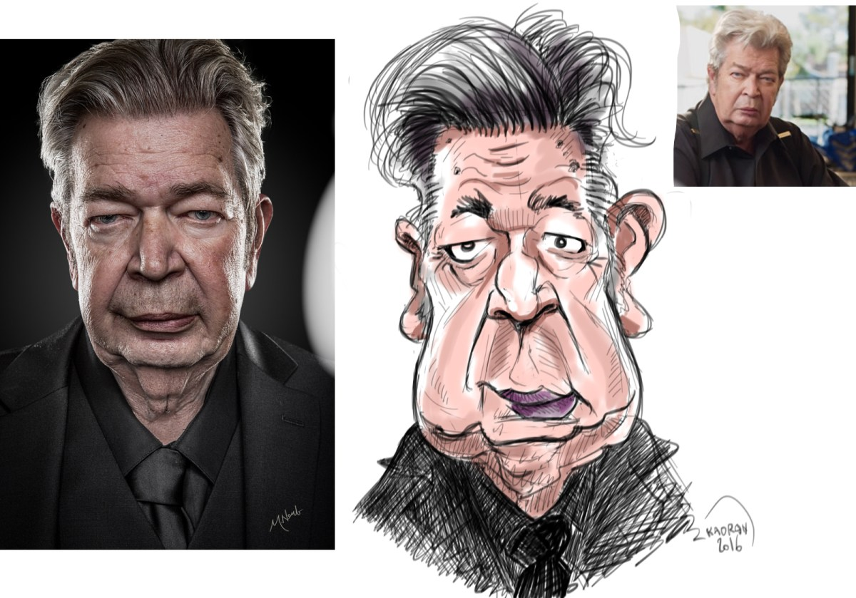 "Richard ""Old Man"" Harrison, Pawn Stars caricature sketch"
