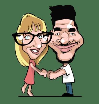 Faire-part de mariage en caricature