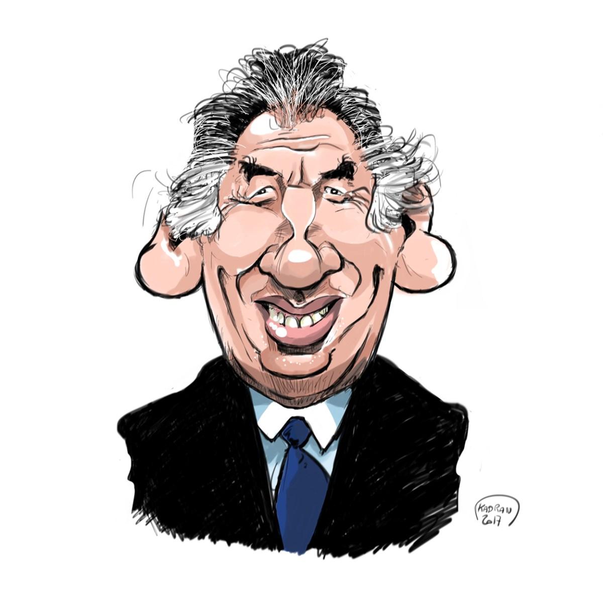 François Bayrou caricature sketch