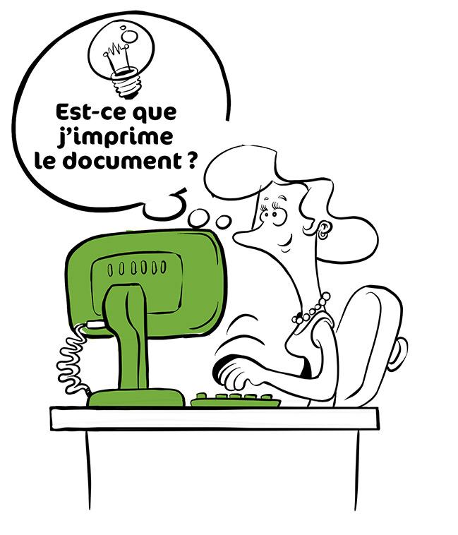 Affiche bande-dessinée pour le CNAMTS