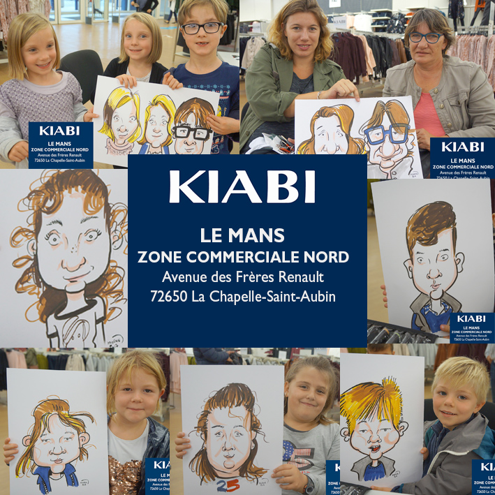 Animation caricatures KIABI Le Mans