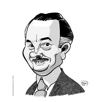 Henri Lefeuvre caricature