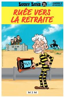 Caricature personnalisée à offrir pour un départ en retraite