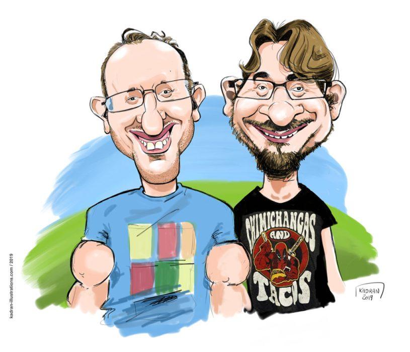 WEB-Joe-Ciomek-and-Tom-Faraci-caricatures-1024x879