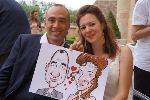 Mariage en caricatures d'Isabelle et Pascal