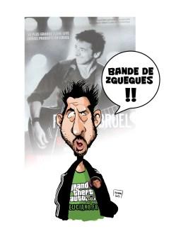 Luciano, Nicolas Mazière caricature