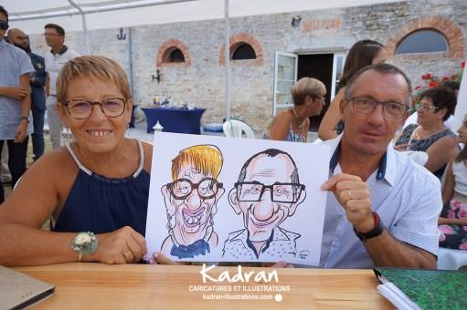 Mariage en caricatures d'Aurélie et Samuel