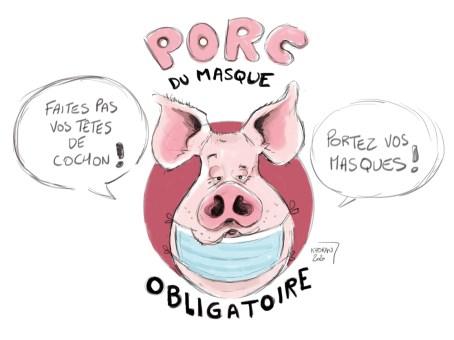 Porc du masque obligatoire au Mans