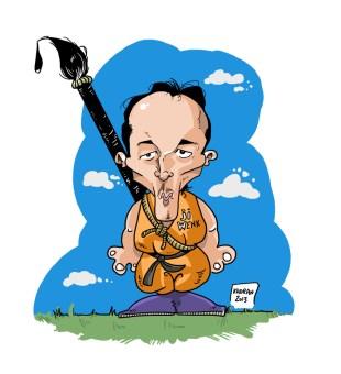 Jiwenk Wae caricature, indonesian caricaturist