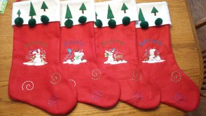 PERSONALIZED STOCKINGS - repurposed