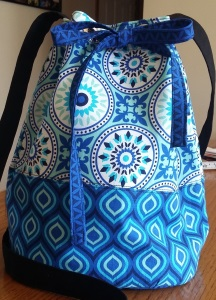LORAIN BUCKET BAG - pattern by Crafty Gemini, constructed by Kadydid Studio