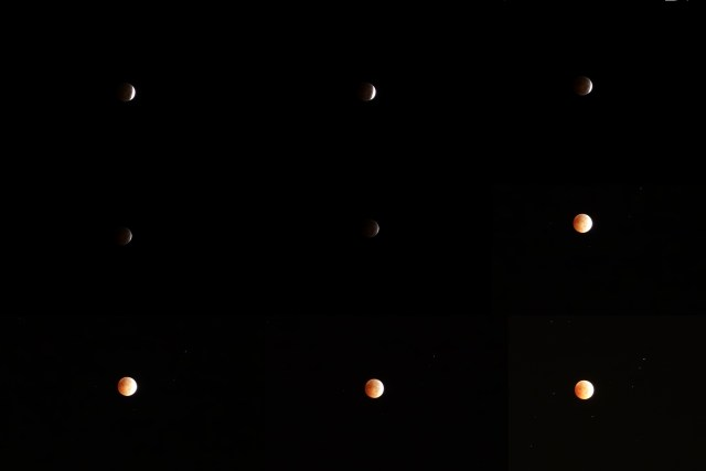 Lunar Eclipse Blood Moon Sequence