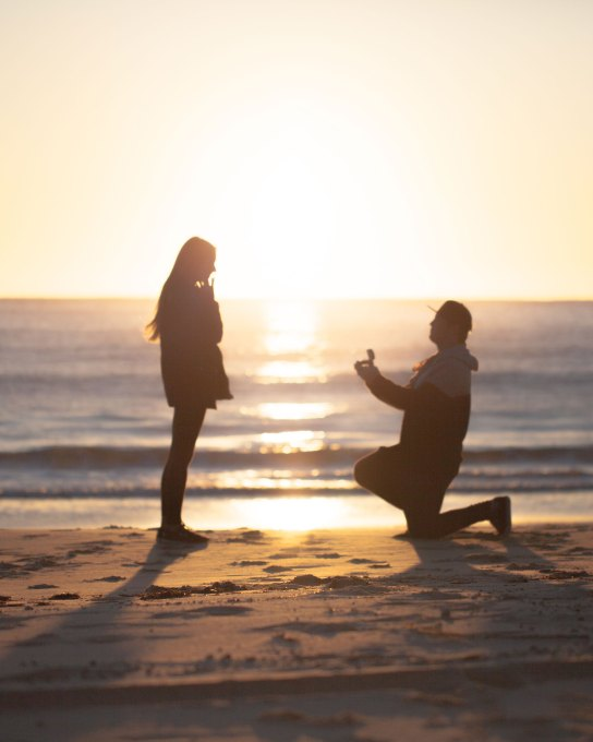 Sunrise Proposal at Seal Rocks