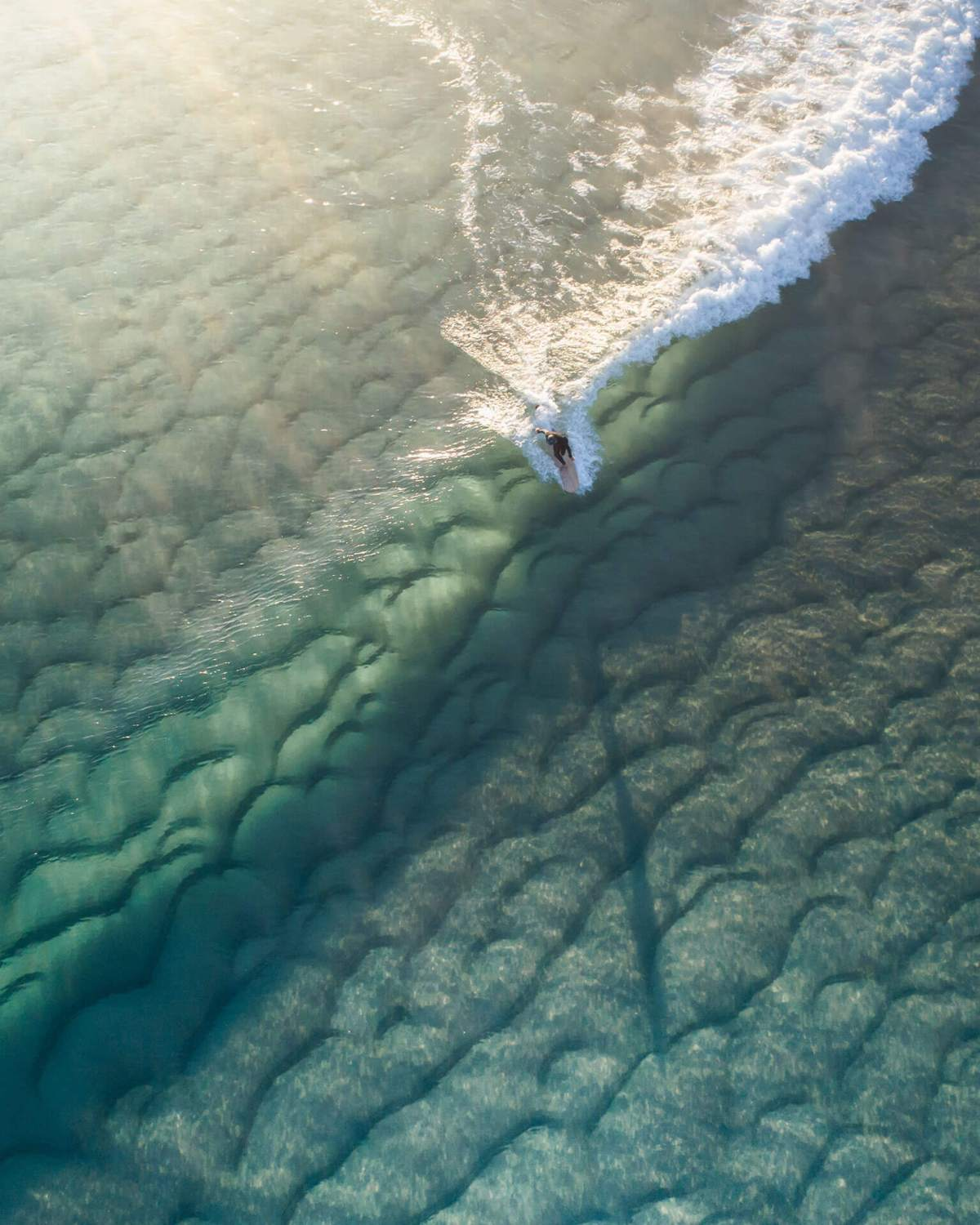 Aerial Photo of Surfer at Scotts Head