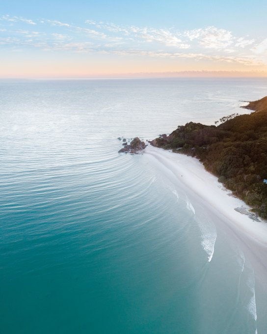 Aerial of The Pass, Byron Bay