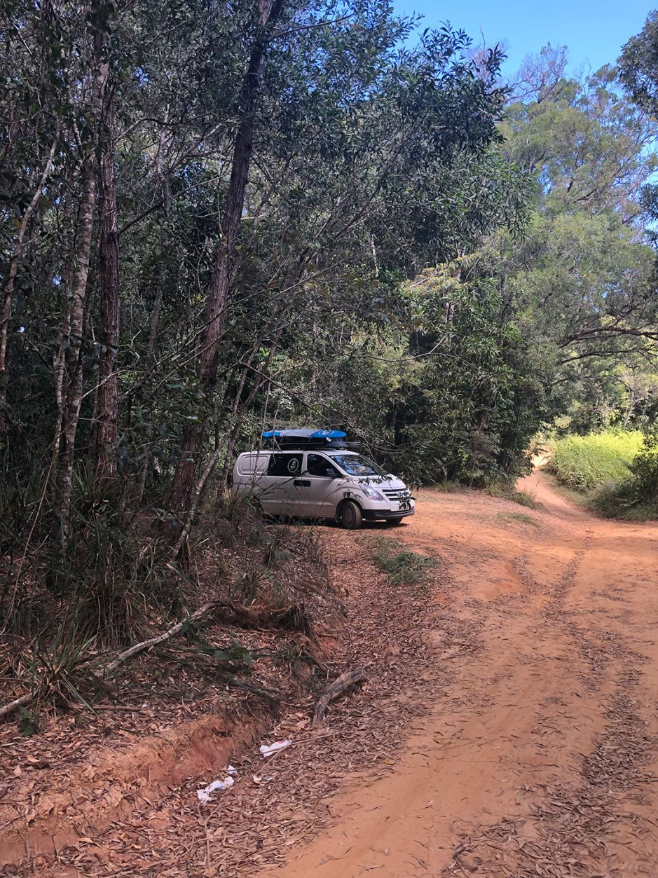 Van Parked At Windin Falls Carpark