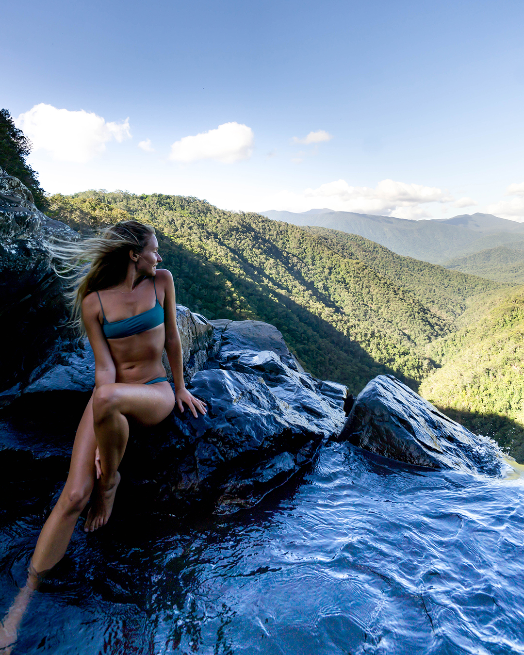 Perched On Top Of The World At Windin Falls