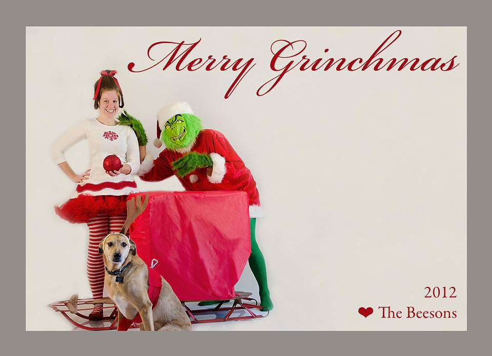 Grinch Christmas Card Kaelee Denise Photography